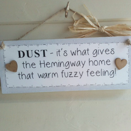 Personalised Funny Wooden DUST Plaque